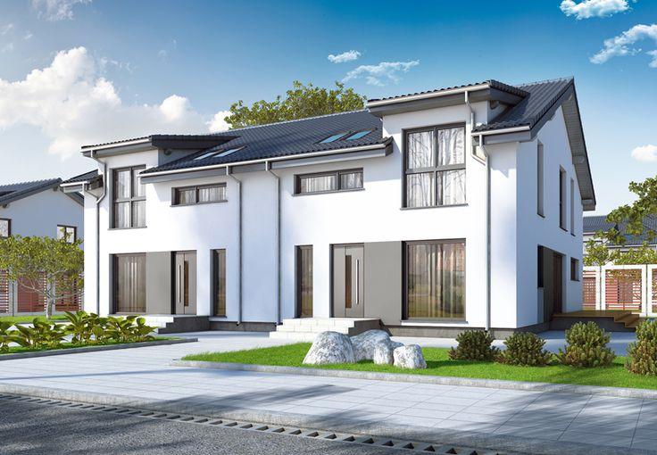 Eine eineinhalbgeschossige Doppelhaushälfte garantiert viel Platz für die ganze Familie. >> Doppelhäuser Danwood Partner 158A || #doppelhauser || http://www.danwood.de/hauser/doppelhauser/partner-158a