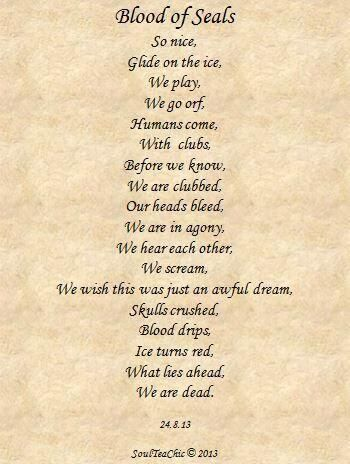 @KellyLevendALDF thanks. Know other lawyers who write poems? Blood of #Seals is sad & intense too. #EndSealSlaughter