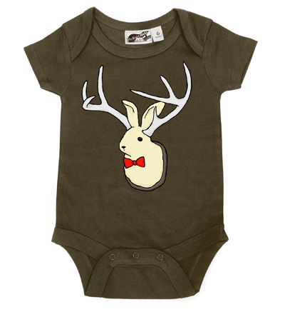 Jackalope Taxidermy Brown One Piece