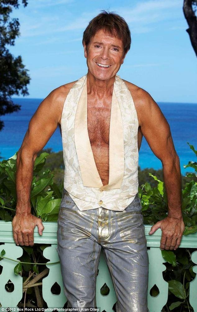 love cliff richard calender pics. this one in his metallic tight jeans is a particular favourite