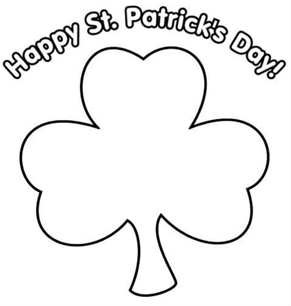 Printable Shamrock Template  Printable Templates  Free Printable
