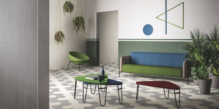 Porcelain wall and floor tiles - resin effect / concrete effect.  Elegant and original offering flexibility in design allowing interior designers and architects the creative ability to play with combinations of shapes, textures and finishes (natural, relief and glossy finish).  Suitable for residential, industrial, retail and commercial design.