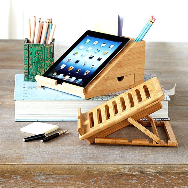 Wisteria - Accessories - Shop by Category - Office & Storage - Bamboo iPad Station