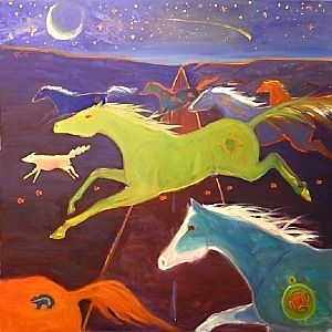 The Healing Path by Kate Dardine Oil ~ 36 x 36