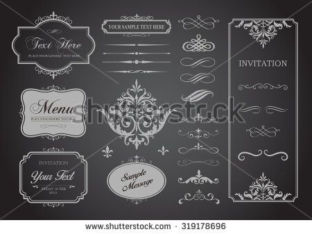 This image is a vector file representing a Vector Set of Borders, Frames and Page Dividers design illustration./Vector Set of Borders Frames and Page Dividers/ Borders Frames and Page Dividers