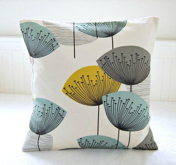 Cushion Colour Combinations: RESERVED RESERVED Decorative Pillow Cover Dandelion Clocks