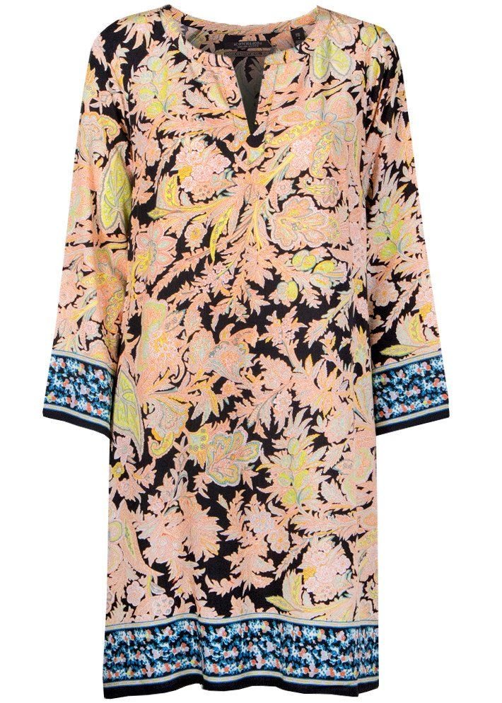 Kjole print 132595 Long Sleeve Dress with Placement Print