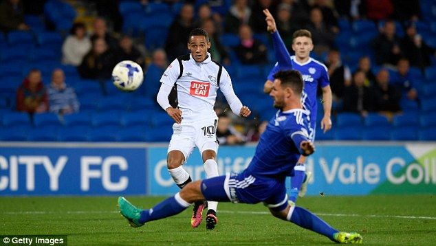 Ince was a constant thorn in the Cardiff defence and could have scored the opener earlier