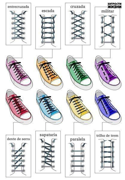 Как оригинально завязывать шнурки