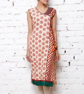 Hand Embroidered Cotton Kurta