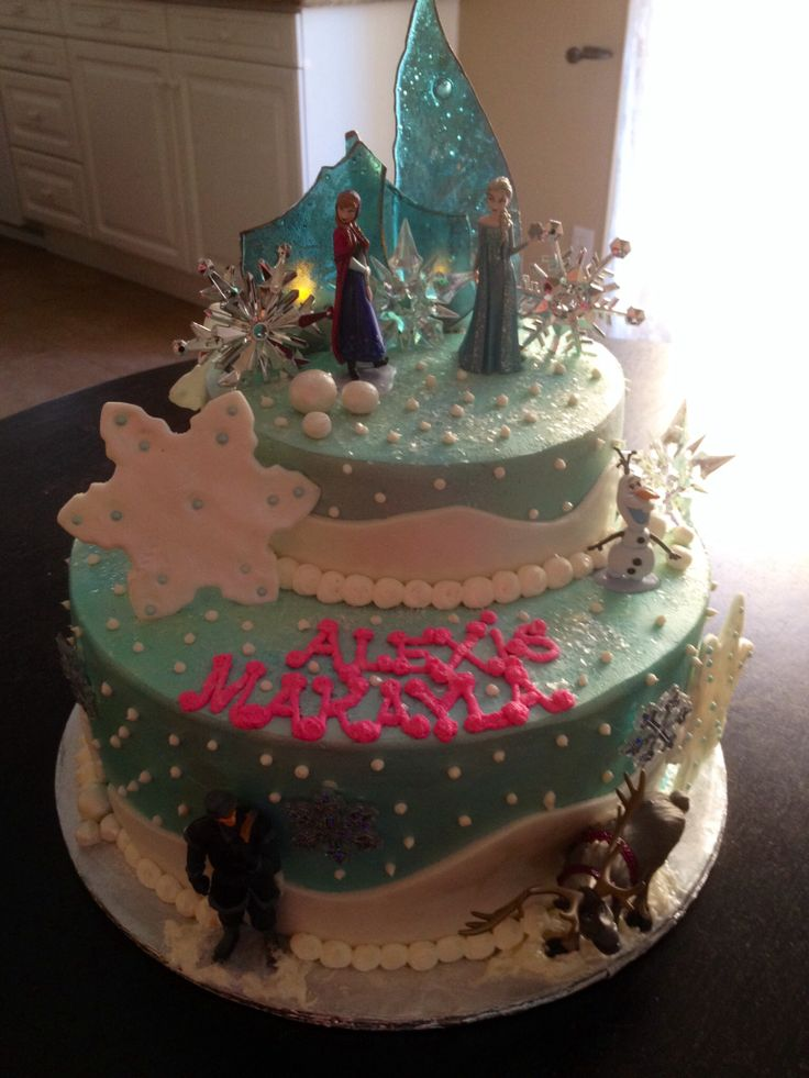 Disneys Frozen themed a Happy Birthday Cake