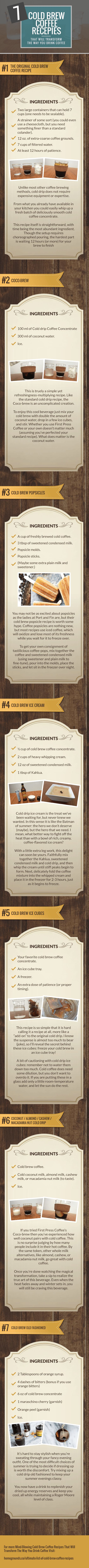 Summer is here, cold brew is in. Here are 21 cold brew recipe's to wet your pants over.