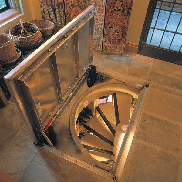 this size spiral staircase and the topmost room can have the trapdoor..use as an actual trapdoor