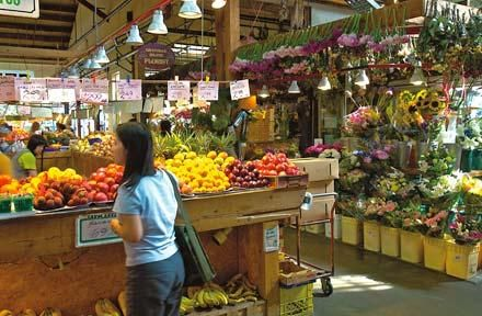 Granville Island market. On Thursdays there is a farmer's market 9-3 PM.