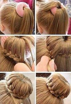 Причёска из длинных волос | HandMade