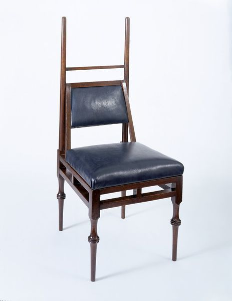1885 Chair Edward William Godwin Culture: English This chair is a simplified version of Godwin's designs for chairs in the Greek style which he produced from 1885. It was available in four different versions, with or without arms, either with upholstered back and seat and turned legs, like this example, or with wooden seat and back and plain legs.