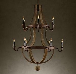 Antique wood chandelier. willeWOODwork