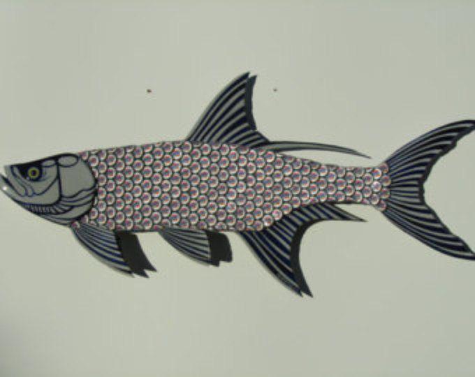 Miller luz Sábalo pescado grande botella de Metal tapa pescado arte de la pared