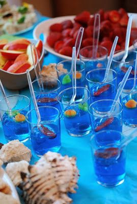 FISH BOWLS - blue jello gummy fish clea...