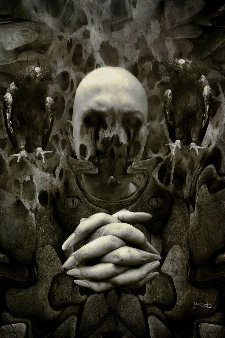 The dark priest by ALEJANDRO D'MARCO  (09alex.deviantart.com on @deviantART) #Otrademencias #Jalouin #Halloween