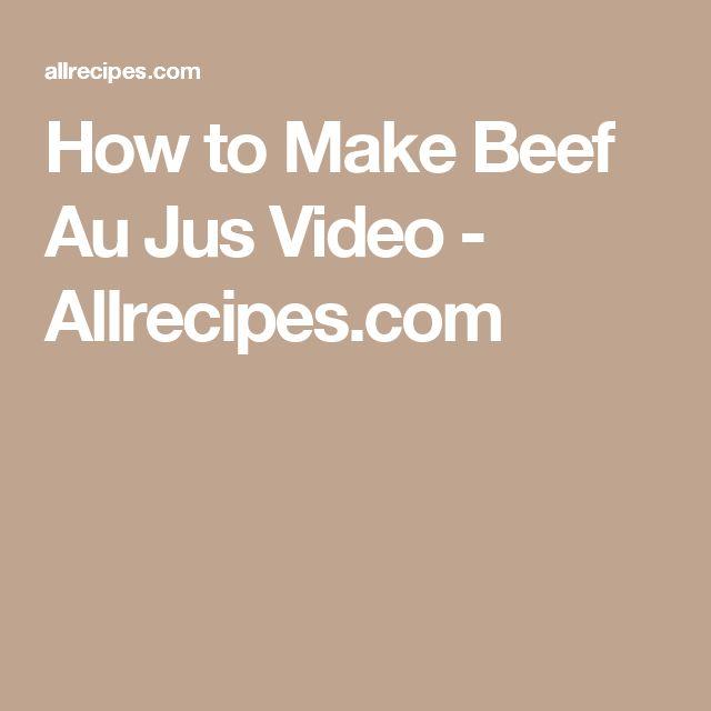 How to Make Beef Au Jus  Video - Allrecipes.com