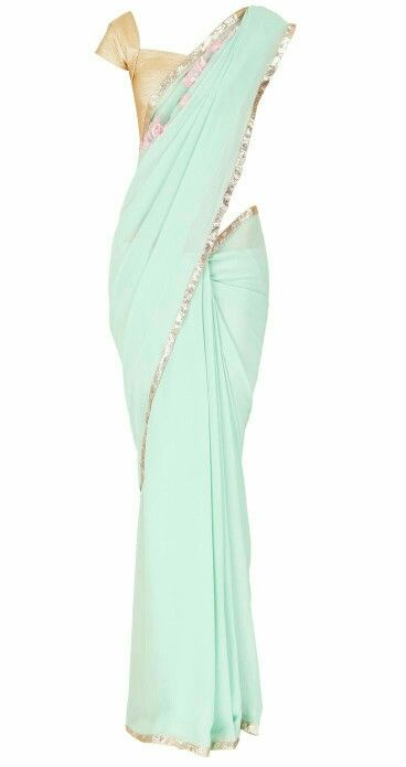 Light blue sari - something about them is so elegant