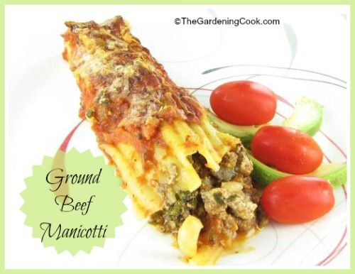 Ground beef Manicotti recipe blends meat with a nice combinatio of mushrooms, peppers and onions, combined with ricotta cheese. The kids will not complain!