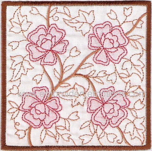 Embroidery Shadow Work Square Blocks