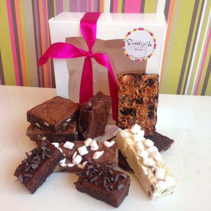 Weekender box  A few of our best sellers, #brownie #rocky road #florentines