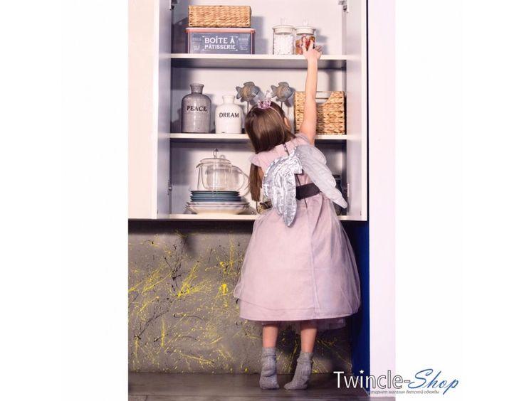 Нарядное розовое платье с бантом (ЧЕРНАЯ ЛЕНТА), ТМ Like my mom