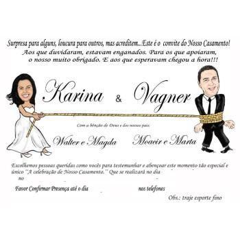 modelos de convites de casamento com caricatura