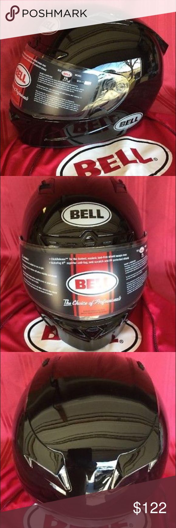 BELL VORTEX FULL FACE SOLID BLACK HELMET XXL NIB BELL VORTEX FULL FACE SOLID BLACK MOTORCYCLE HELMET XXL  NEW IN BOX BELL Accessories Hats