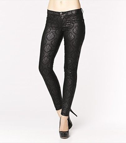With an elegant and subtle damask print, these jeggings will totally turn heads! Pair them with one of our soft blouses. #DYNHOLIDAY