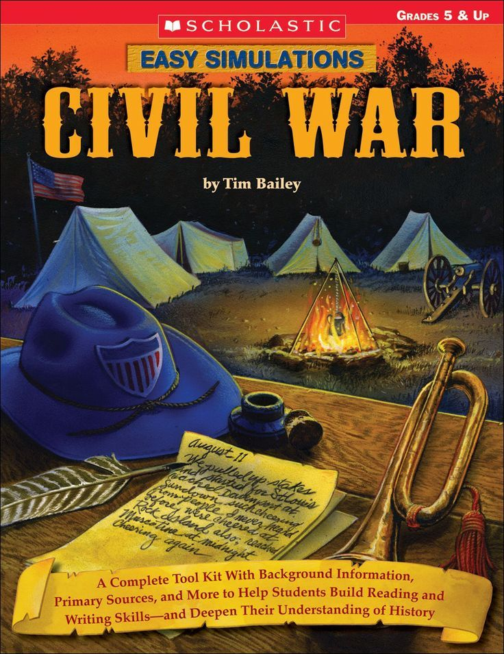 "Life is Better Messy Anyway: Civil War. Classroom simulation for the Civil War... starts with the book then spilt class into two sides and play out the ""civil war"""