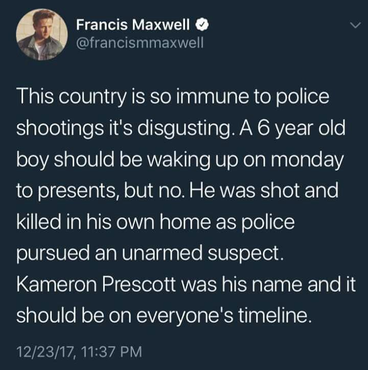 """IF you think the Police are meant to """"Protect"""" and """"Serve"""" the public than you're more have than a child stumbling upon sex."""