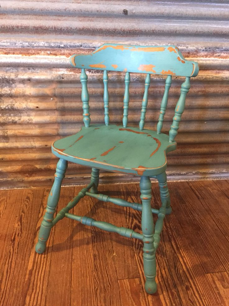 Chair done in Beach Glass by American Paint Company.