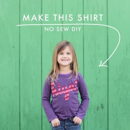 No-Sew Word T-Shirt for Kids (or Parents Too!)