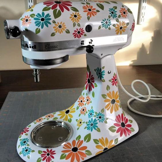 Kitchen Mixer Decals, Wildflower Decals for Mixer,African Daisy Decals, Gifts for Bakers,Mixer Stickers,Kitchen Aid decals, Appliance Decal