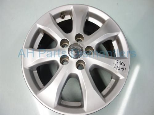 """Used 2011 Toyota Camry Rear driver WHEEL/RIM, 16"""" 7 SPOKE LIGHT SCRATCHES 42611-06390 4261106390. Purchase from https://ahparts.com/buy-used/2011-Toyota-Camry-Rear-driver-WHEEL-RIM-16-7-SPOKE-42611-06390-4261106390/103134-1?utm_source=pinterest"""