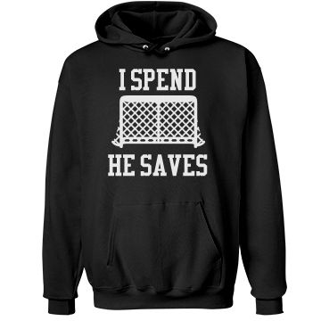 Funny Hockey Mom Expenses | Hockey moms are known for being fun and rowdy. Why not be cute and warm in a custom hoodie to wear to all the cold ice hockey rinks. Get one for the hockey dad too.