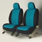 Teal/Black Neoprene exact fit seat covers. Made to order for your specific vehicle. Learn more at; www.gtcovers.com/..., $249.95 per row