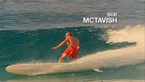 Bob McTavish--Flying down the line with a lot of rail in the water.