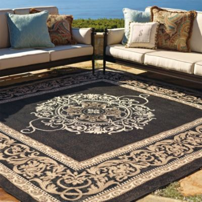 Medallion Outdoor Rug Landscape Fabrics