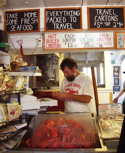Roy moore lobster cobearskin neck lobsters cooking gloucester mass