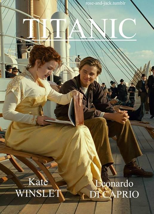 Titanic (1997) Leonardo DiCaprio as Jack Dawson and Kate Winslet as Rose DeWitt Bukater #costume design: Deborah Lynn Scott