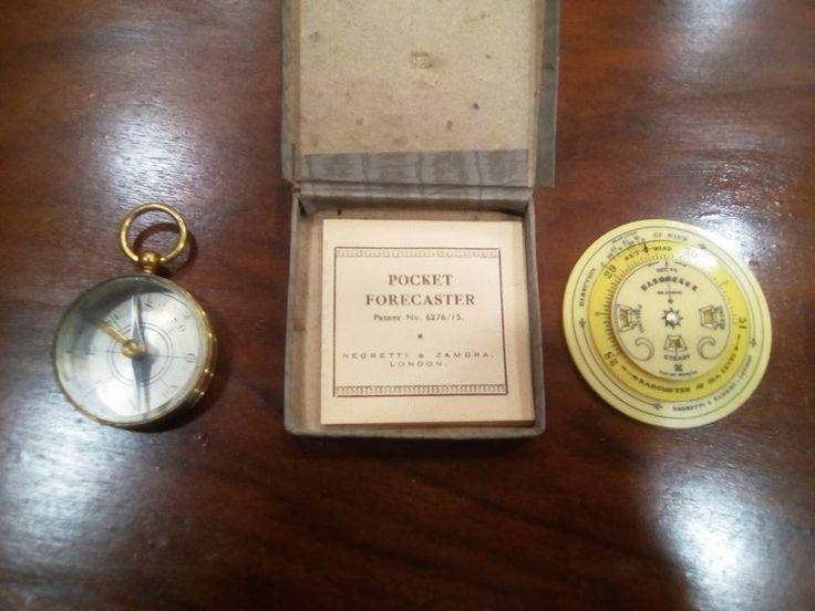 Antique Negretti & Zambra pocket forecaster