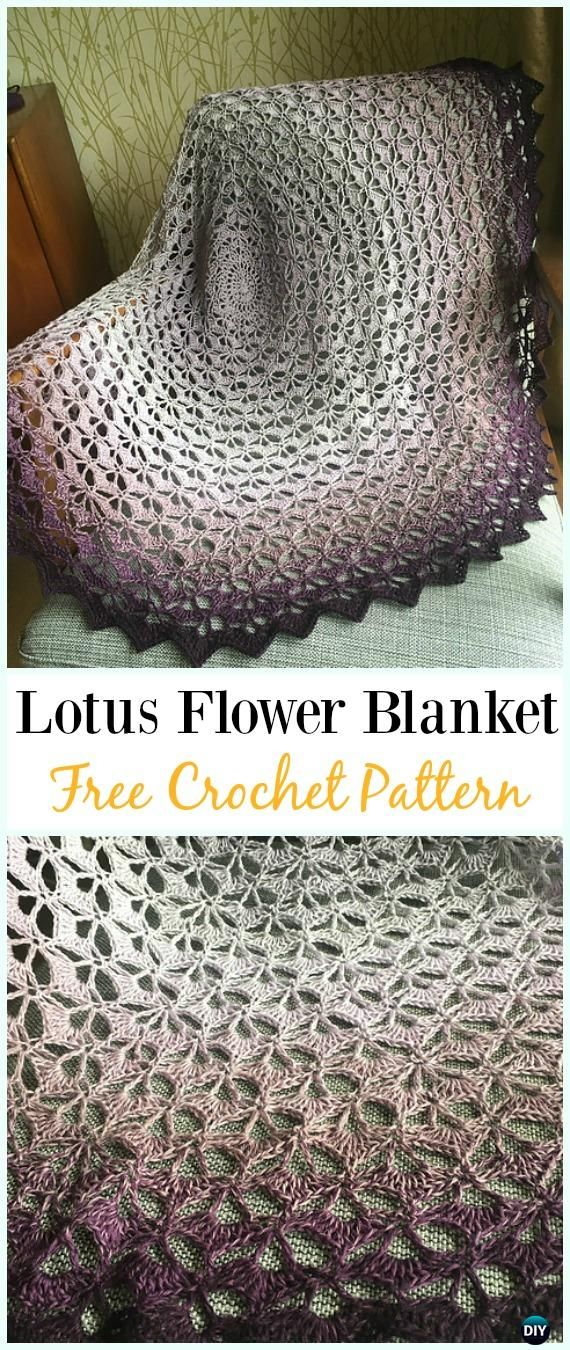 Crochet Flower Blanket Free Pattern Round Up Crocheting Crochet