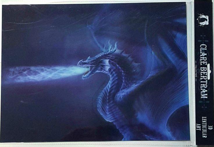 Brand New Licensed 3D Lenticular Art Clare Bertram Mystical Dragon Print