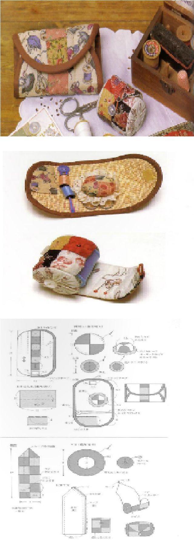 Mini sewing kit and pincushion ideas.