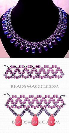 Free pattern for beaded necklace Galaxy | Beads Magic